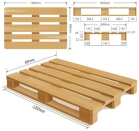 nieuwe pallet in hout All Pallets